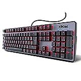 Krom Teclado Gaming Kernel -NXKROMKRNL - Teclado mecanico numerico, iluminacion LED RGB, 9 Efectos...