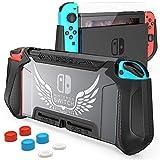 HEYSTOP Carcasa Compatible con Nintendo Switch, Funda Nintendo Switch con Protectora TPU Grip Funda...