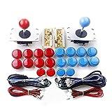 Navigatee Joystick Botones,3D Joysticks Analógicos USB Óvalo Joystick De Estilo DIY Arcade Game...