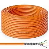 deleyCON 30m CAT.7 Cable de Instalación Cobre Rígido S/FTP PIMF Cable de Red Cable de Instalación...
