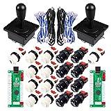 EG STARTS Classic Happ Style Arcade DIY Parts Kit para 2 jugadores USB Mame Project Juegos y...