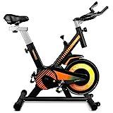 gridinlux. Trainer Alpine 6000. Bicicleta estática Spinning. Volante Inercia 10 kg, Regulación...