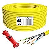 HB-DIGITAL 25m de Cable de red Básico cat. 7, Pelador, Cable LAN Cable cat. 7 de Cobre Profesional...