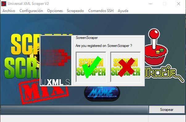 Registro en ScreenScraper.fr