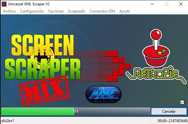 Universal XML Scraper scrapeando