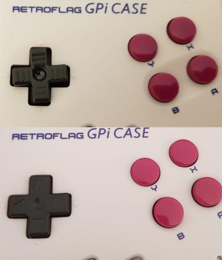 Comparativa d-pad gpi-case vs d-pad game boy pocket