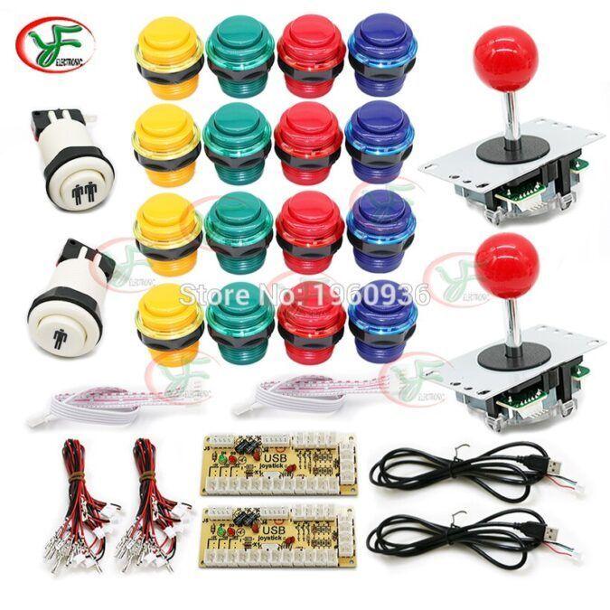 Kit joystick para 2 jugadores para  hacer una máquina arcade