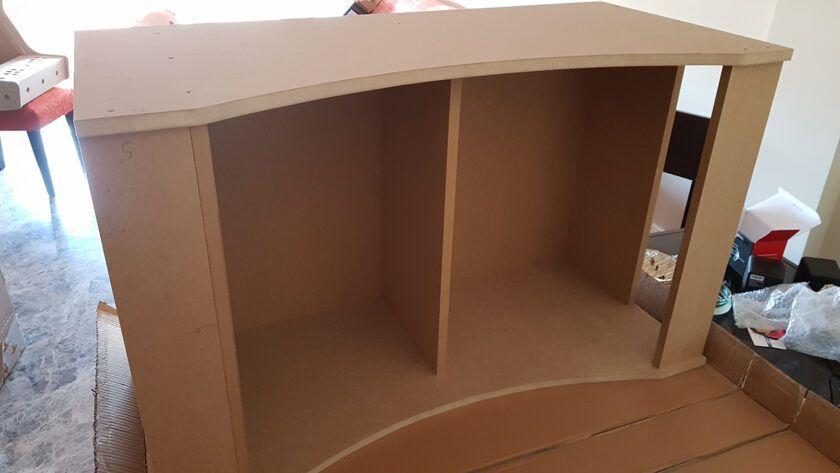 montando mueble arcade casera