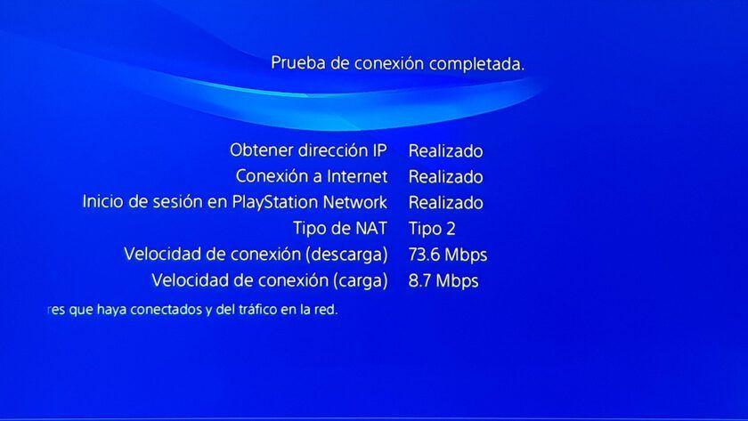 prueba de conexión PS4