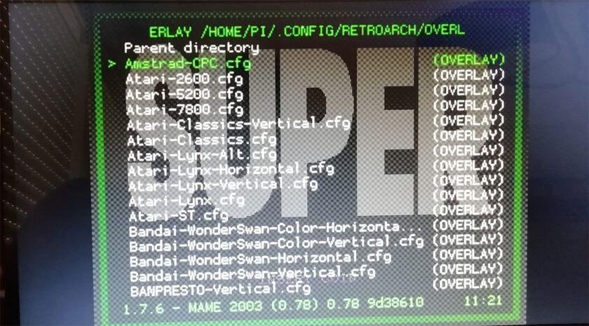 overlay preset list retropie download pack