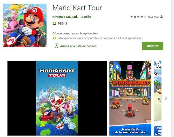 mario kart tour googleplay
