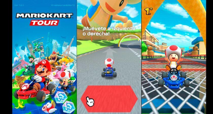 impresiones mario kart tour android