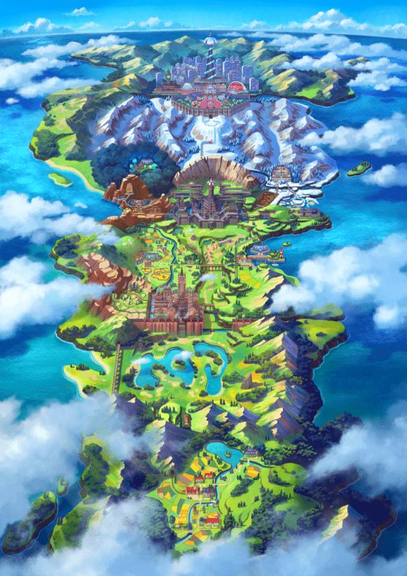 Galar reino unido pokémon espada y escudo