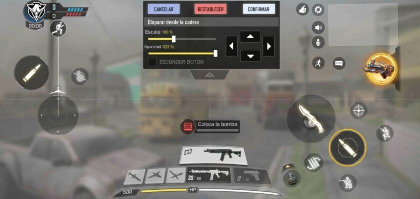 personalizar controles call of duty mobile