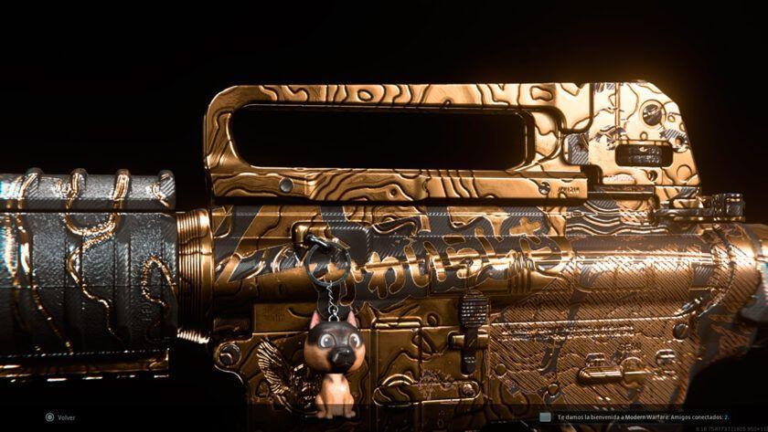 m4a1 dorado oro modern warfare