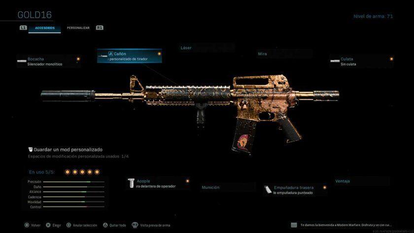 mejor clase m4a1 modern warfare