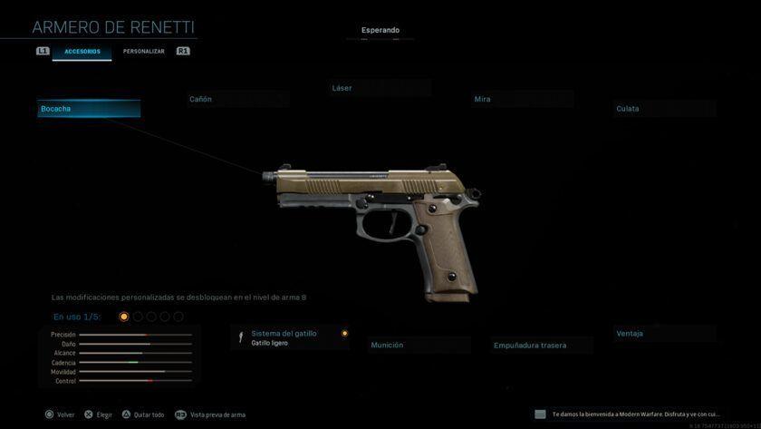 pistola renetti modern warfare temporada 3