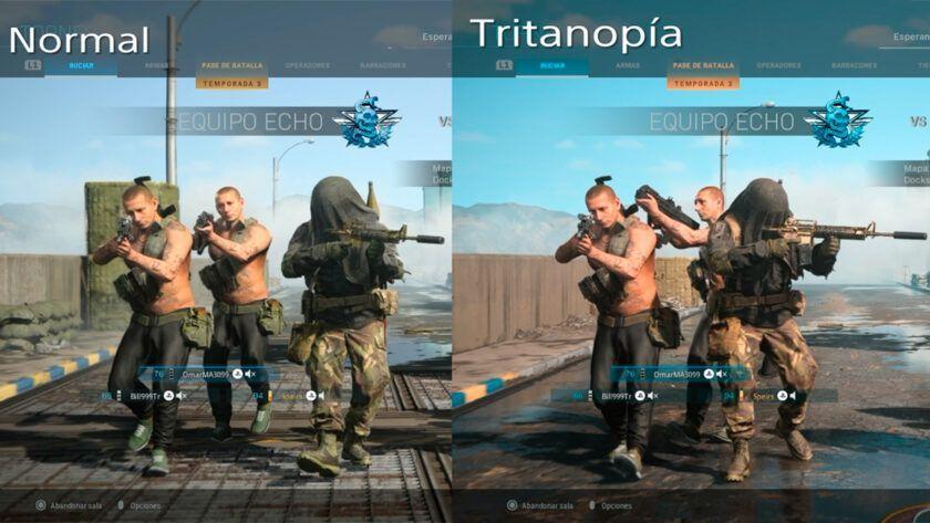 mejor configuración modern warfare ps4 tritanopía