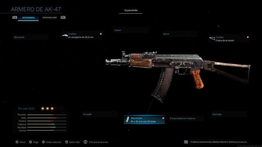 ak74u armas secretas modern warfare