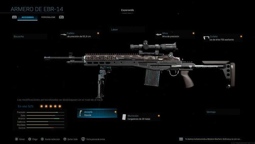 m21 armas secretas modern warfare