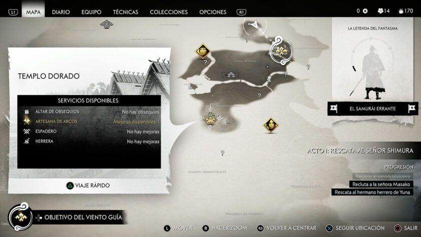mapa ghost tsushima análisis ps4