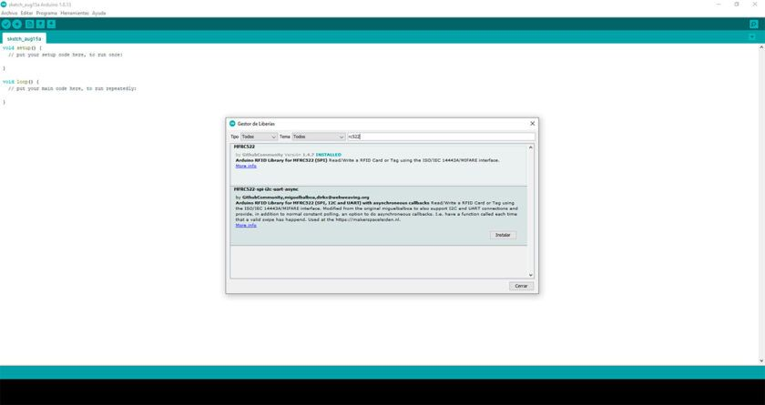 librería arduino MFRC522 bloque 0 mifare arduino
