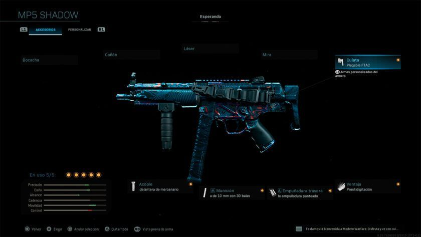 clase mp5 CDL competitiva