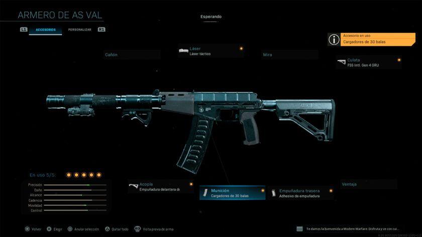 Fusil de Asalto AS VAL Modern Warfare