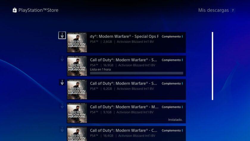 descargar contenido modern warfare