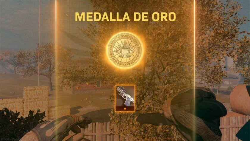medalla oro parkour peligroso warzone
