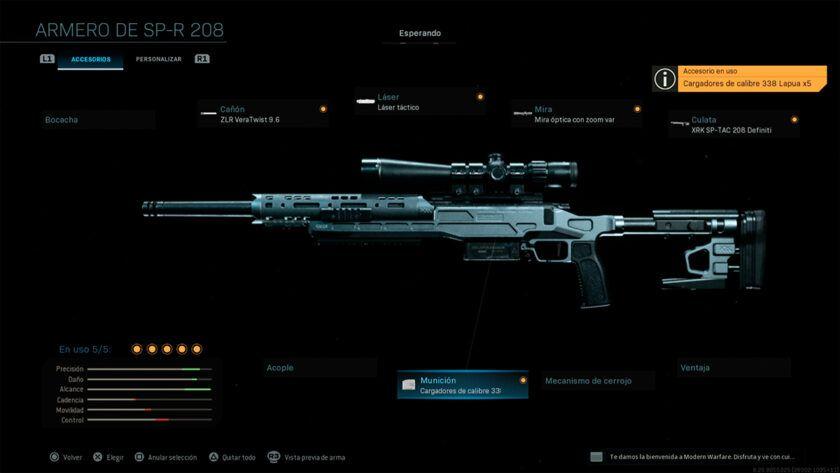 Fusil Táctico SP-R 208 Modern Warfare