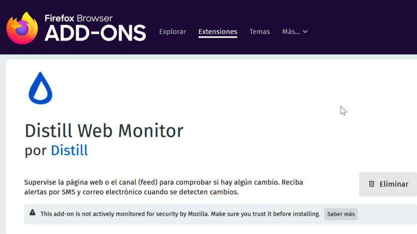 distill web monitor tutorial español disponibilidad alertas