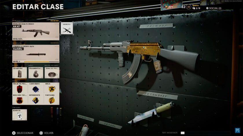 mejor clase ak47 black ops cold war dorado