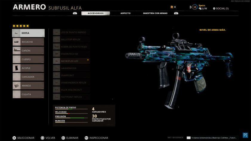 mejor clase mp5 en black ops cold war
