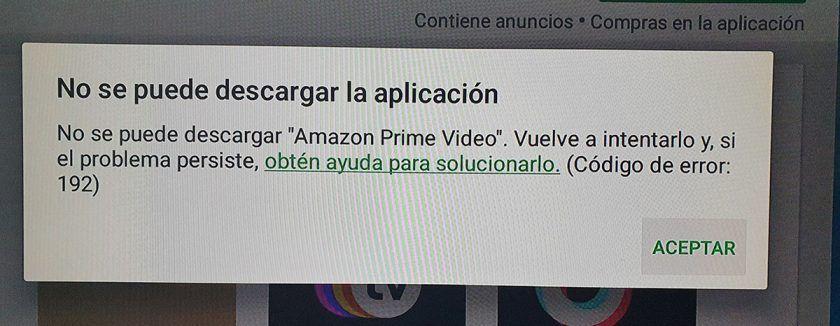 error 192 google play
