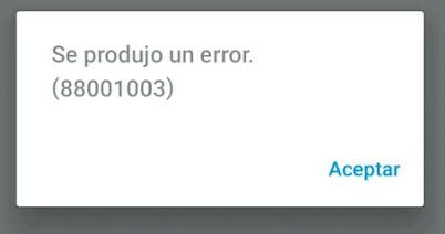 error 88001003 ps remote play android