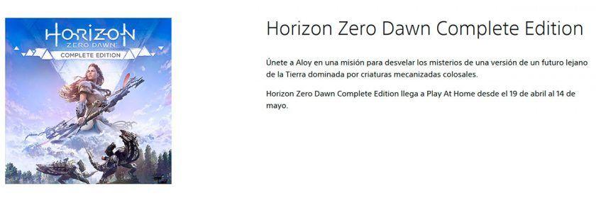 play at home gratis horizon zero dawn complete edition