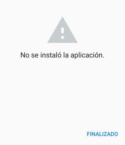 no se instalo la aplicación google play error android