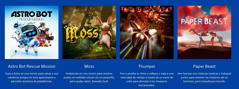 astro bot moss thumper paper beast juegos gratis play at home