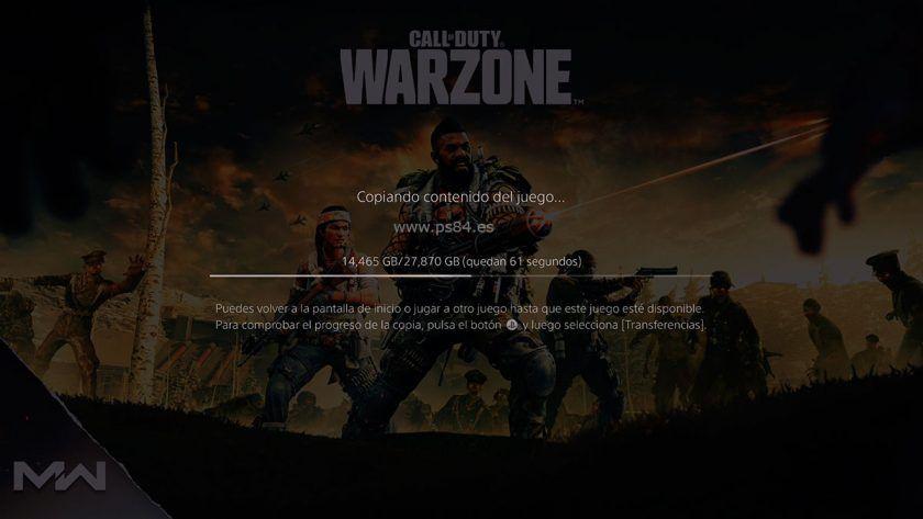 copiando contenido del juego warzone