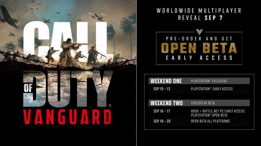 fechas beta call duty vanguard