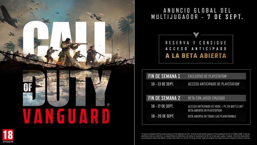 fechas beta call of duty vanguard