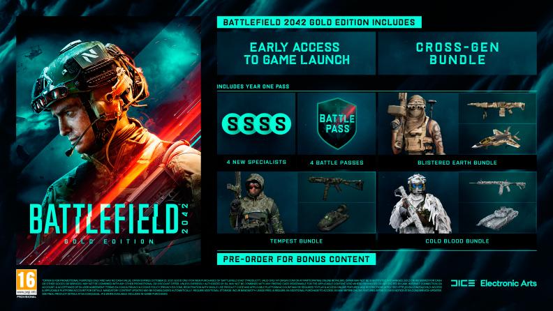 contenido edición gold battlefield 2042 beta